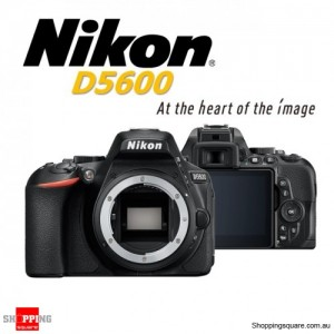 Nikon D5600 Digital Camera Body Black DSLR 24.2MP Full HD