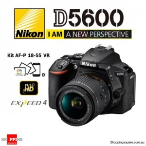Nikon D5600 Kit AF-P 18-55 VR Digital Camera Black DSLR 24.2MP Full HD