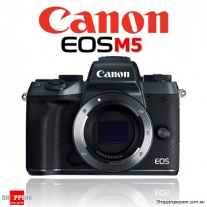 Canon EOS M5 Mirrorless Digital Camera Body DSLR 24.2MP Full HD Black