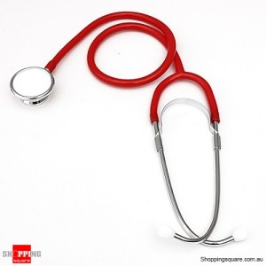 Professional Dual Head EMT Stethoscope Health Care Red Colour