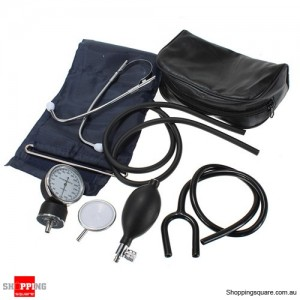 Aneroid Adult Blood Pressure Monitor Meter Sphygmomanometer Set with Bag