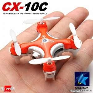 Cheerson CX-10C Mini 6 Axis 2.4G 4CH RC Spy Quadcopter with Camera RTF Left Hand Throttle Orange Colour