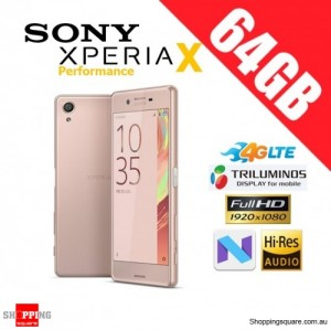 Sony Xperia X Performance 64GB F8132 4G LTE Unlocked Smart Phone Rose Gold
