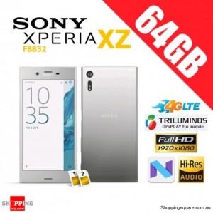 Sony Xperia XZ 64GB F8332 Dual Sim 4G LTE Unlocked Smart Phone Silver Platinum