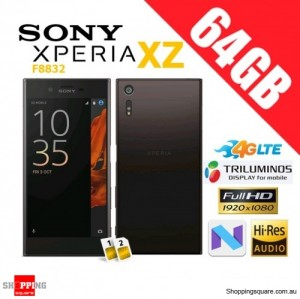 Sony Xperia XZ 64GB F8332 Dual Sim 4G LTE Unlocked Smart Phone Mineral Black