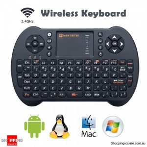 MantisTek MK1 2.4GHz Wireless WiFi Mini Keyboard with Touchpad Mouse Remote Control for Android Windows
