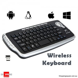 2.4G Mini Wireless Keyboard Trackball Air Mouse with Multi-media Functions for Windows Linux Android