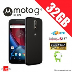 Motorola Moto G4 Plus 32GB XT1642 Unlocked Smart Phone Black