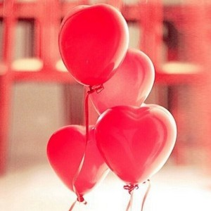 "100 x 12"" Red Heart Latex Balloons for Party Wedding Birthday Decoration"