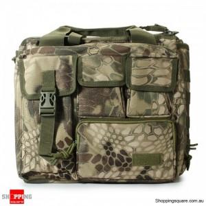 Men's Tactical Multifunctional Laptop Camera Mochila Messenger Bag for Travel Outdoor Sport Bag Green Camouflage No. 2