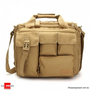 Men's Tactical Multifunctional Laptop Camera Mochila Messenger Bag for Travel Outdoor Sport Bag Khaki Colour