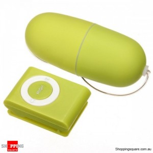 Female 20 Speeds Wireless Vibrating Egg Sex Adult Toy with Remote Control Green Colour