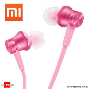 Genuine Xiaomi Basic Edition Piston In-ear Headset Earphone with Mic Pink Colour