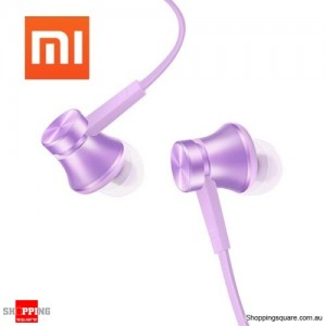 Genuine Xiaomi Basic Edition Piston In-ear Headset Earphone with Mic Purple Colour