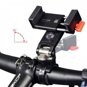 ANTUSI T8 304 Stainless Steel Rotatable  Bike Phone Holder with Compass for iPhone Android Samsung