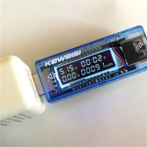 KEWEISI 3V-9V 0-3A USB Power Capacity Voltage Current Meter Tester for Charger Battery