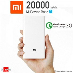 Genuine Xiaomi 2nd Gen 20000mAh Polymer Power Bank Charger Dual USB Output with Quick Charge 3.0
