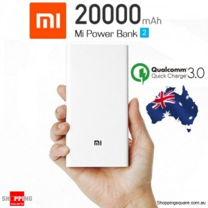 Genuine Xiaomi 20000mAh Polymer Power Bank Charger 2nd Generation Dual USB Output with Quick Charge 3.0