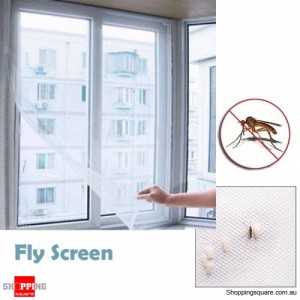 Removable Hook and Loop Fasteners Insect Fly Pest Screen Net Mesh Curtain