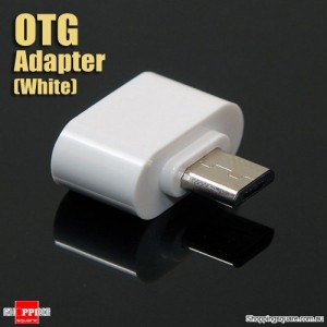 USB Female to Micro USB Male OTG Cable Adapter for Samsung Android Phone Tablet White Colour