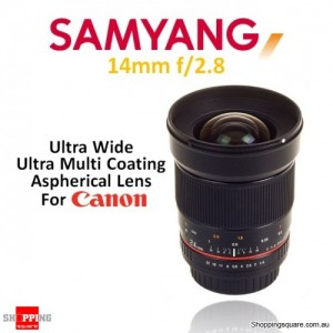Samyang 14mm f/2.8 IF ED UMC Aspherical Camera Lens Black (for Canon)