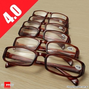 Lightweight Presbyopic Fatigue Relieve Comfortable Reading Glasses Strength 4.0