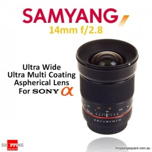 Samyang 14mm f/2.8 IF ED UMC Aspherical Camera Lens Black (for Sony Alpha)