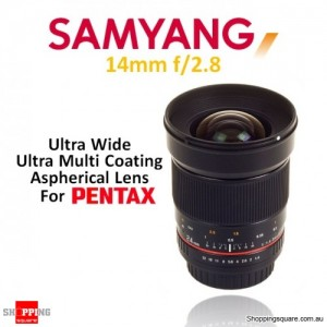 Samyang 14mm f/2.8 IF ED UMC Aspherical Camera Lens Black (for Pentax)