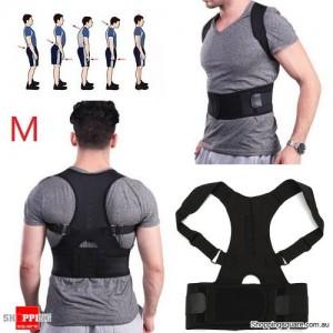 Adjustable Magnetic Posture Corrector Belt for Lumbar Lower Back Support Shoulder Brace Size M