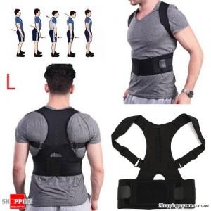 Adjustable Magnetic Posture Corrector Belt for Lumbar Lower Back Support Shoulder Brace Size L