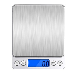 0.1g 2000g Mini Digital Pocket Electronic Kitchen Jewelry Scale Balance Supports Multi-unit Conversion