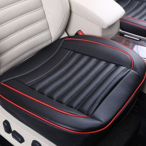 50x50cm PU Leather Car Cushion Seat Chair Cover Black Colour