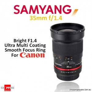 Samyang 35mm f/1.4 AS UMC Digital Camera Lens Black (For Canon)