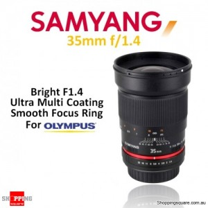 Samyang 35mm f/1.4 AS UMC Digital Camera Lens Black (For Olympus)