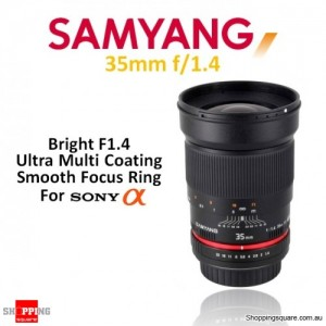 Samyang 35mm f/1.4 AS UMC Digital Camera Lens Black (For Sony A-Mount)