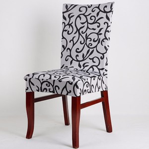 Elegant Spandex Elastic Stretch Chair Seat Cover White+Black Colour