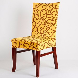 Honana Elegant Spandex Elastic Stretch Chair Seat Cover Computer Dining Room Wedding D?cor  Yellow & Black  Colour