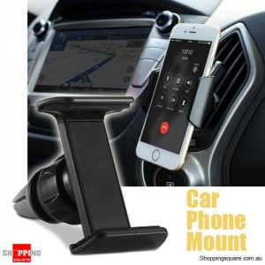 Car Air Vent Mounted Universal Mobile Phone Holder for Mobile GPS Black Colour