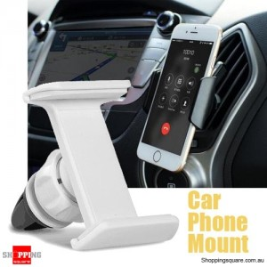 Car Air Vent Mounted Universal Mobile Phone Holder for Mobile GPS White Colour