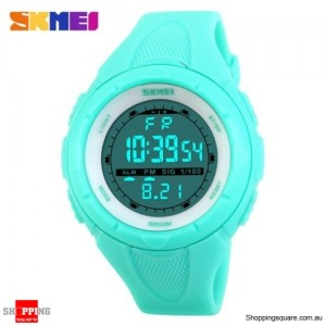 SKMEI 1025 Unisex Waterproof Digital Military Army Watch Wristwatch for Sports Shock Small Tiffany Colour