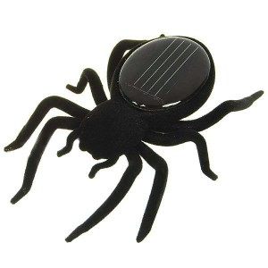 Solar Powered Spider Robot Toy Gadget for Education Prank Gift