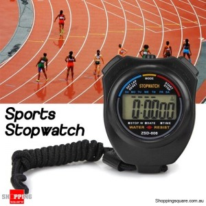 Handheld Digital LCD Counter Stopwatch Timer Alarm Chronograph for Running Sports Gym