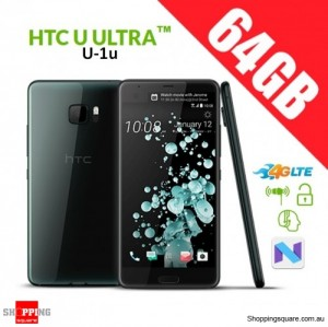HTC U Ultra 64GB U-1u 4G LTE Dual SIM Unlocked Smart Phone Black