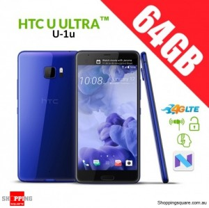 HTC U Ultra 64GB U-1u 4G LTE Dual SIM Unlocked Smart Phone Blue