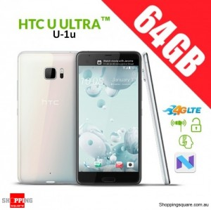 HTC U Ultra 64GB U-1u 4G LTE Dual SIM Unlocked Smart Phone White
