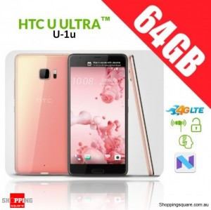 HTC U Ultra 64GB U-1u 4G LTE Dual SIM Unlocked Smart Phone Pink