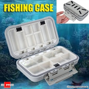 Waterproof Fishing Case Box with Compartments for Fly Lures Hooks Accessories