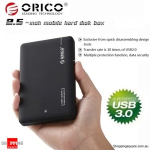 ORICO 2599US3 USB 3.0 HDD External Enclosure Box Tool Free for 2.5 inch Hard Drive Disk