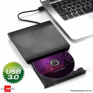 USB3.0 External Pop-up DVD-RW Burner Write Optical Drive for Windows Mac Linux Black Colour