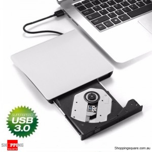 USB3.0 External Pop-up DVD-RW Burner Write Optical Drive for Windows Mac Linux White Colour